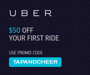 Tap Cheer & Give Uber