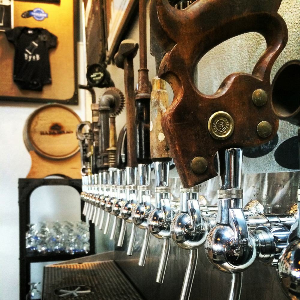 Tap Handles at Toolbox Brewing