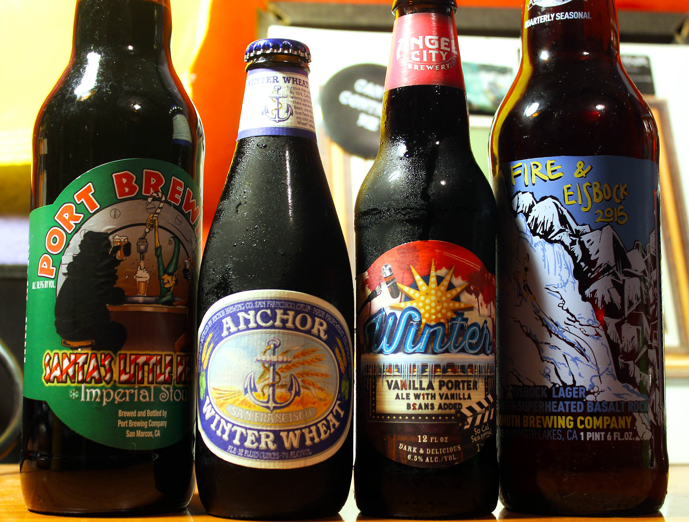 Seasonal Winter Beers from California
