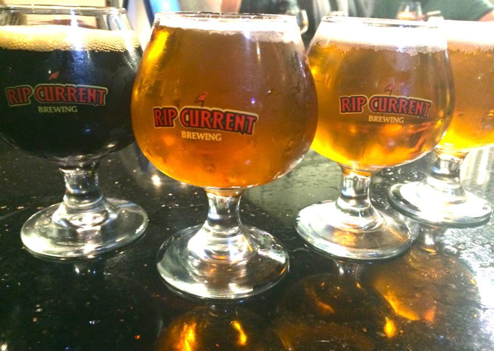 Rip Current Brewing Beer Flight