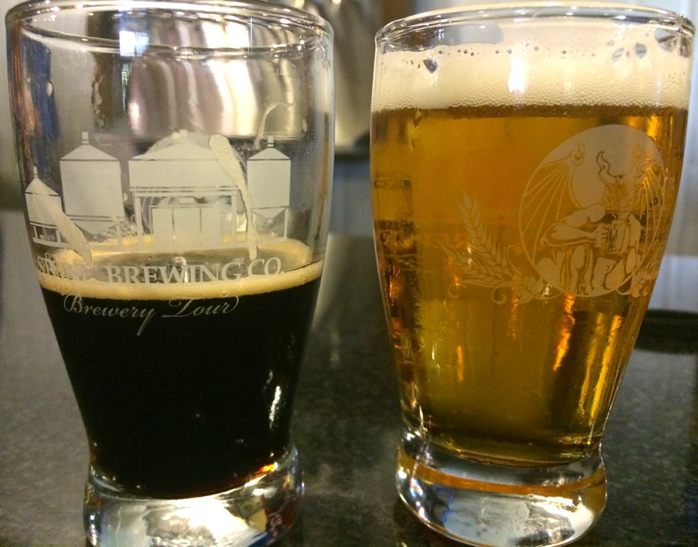 Stone Brewing Tour Tasters
