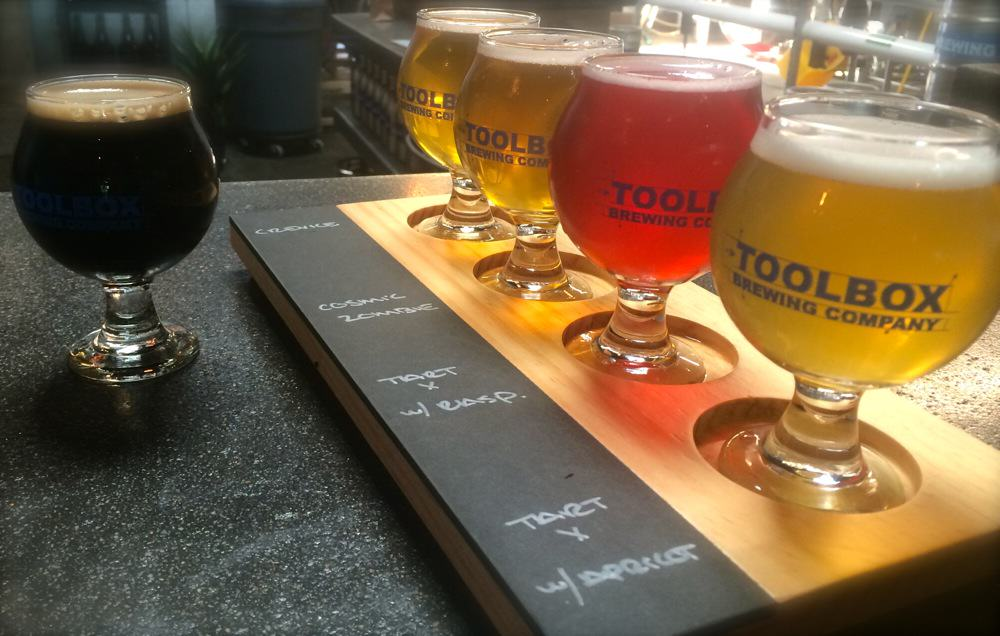 Beer Flights at Toolbox Brewing